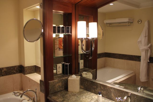 The Peninsula Manila Club Room Bathroom