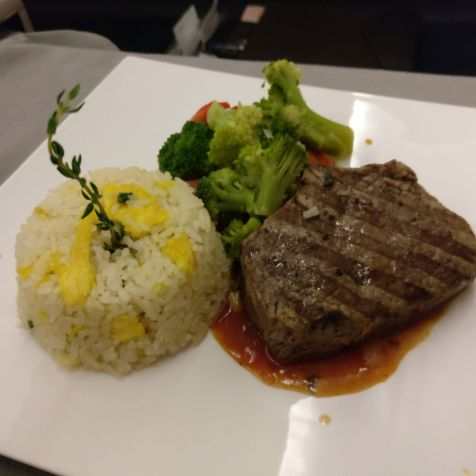 Turkish Airlines Business Class Airbus A330 Dinner