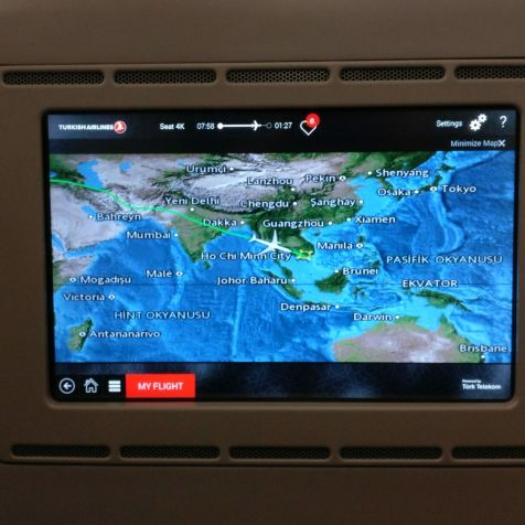Turkish Airlines Business Class Airbus A330 Map