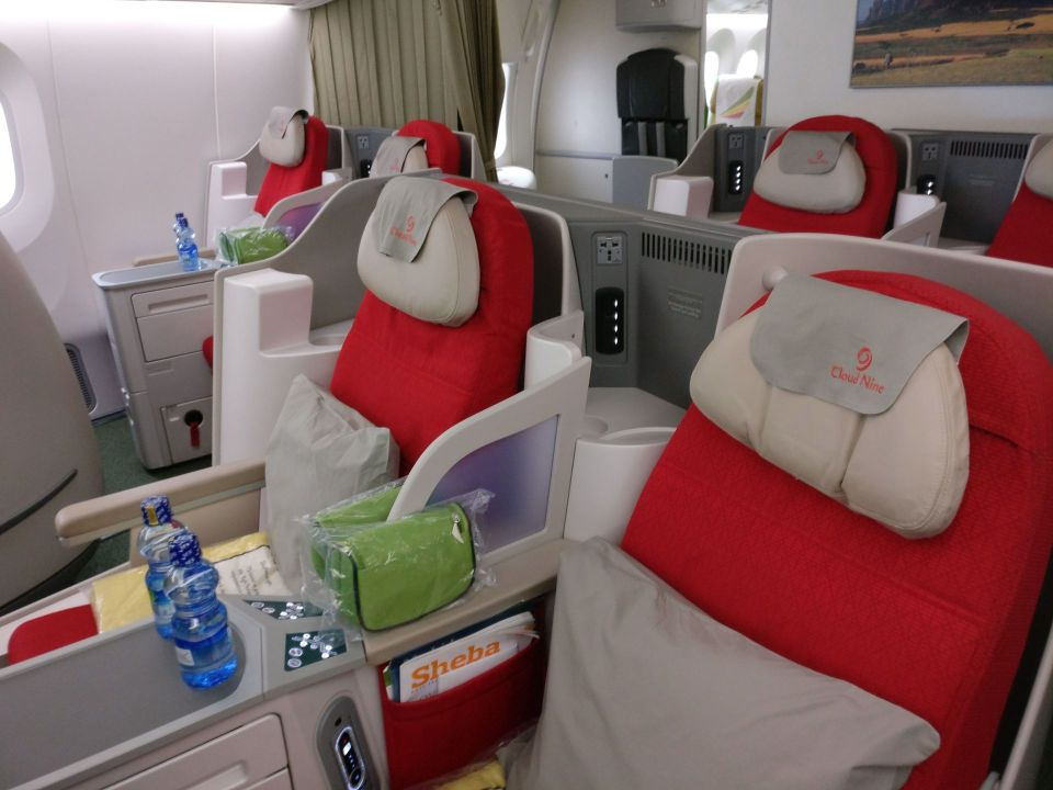 Ethiopian Airlines Business Class Boeing 787 Seat