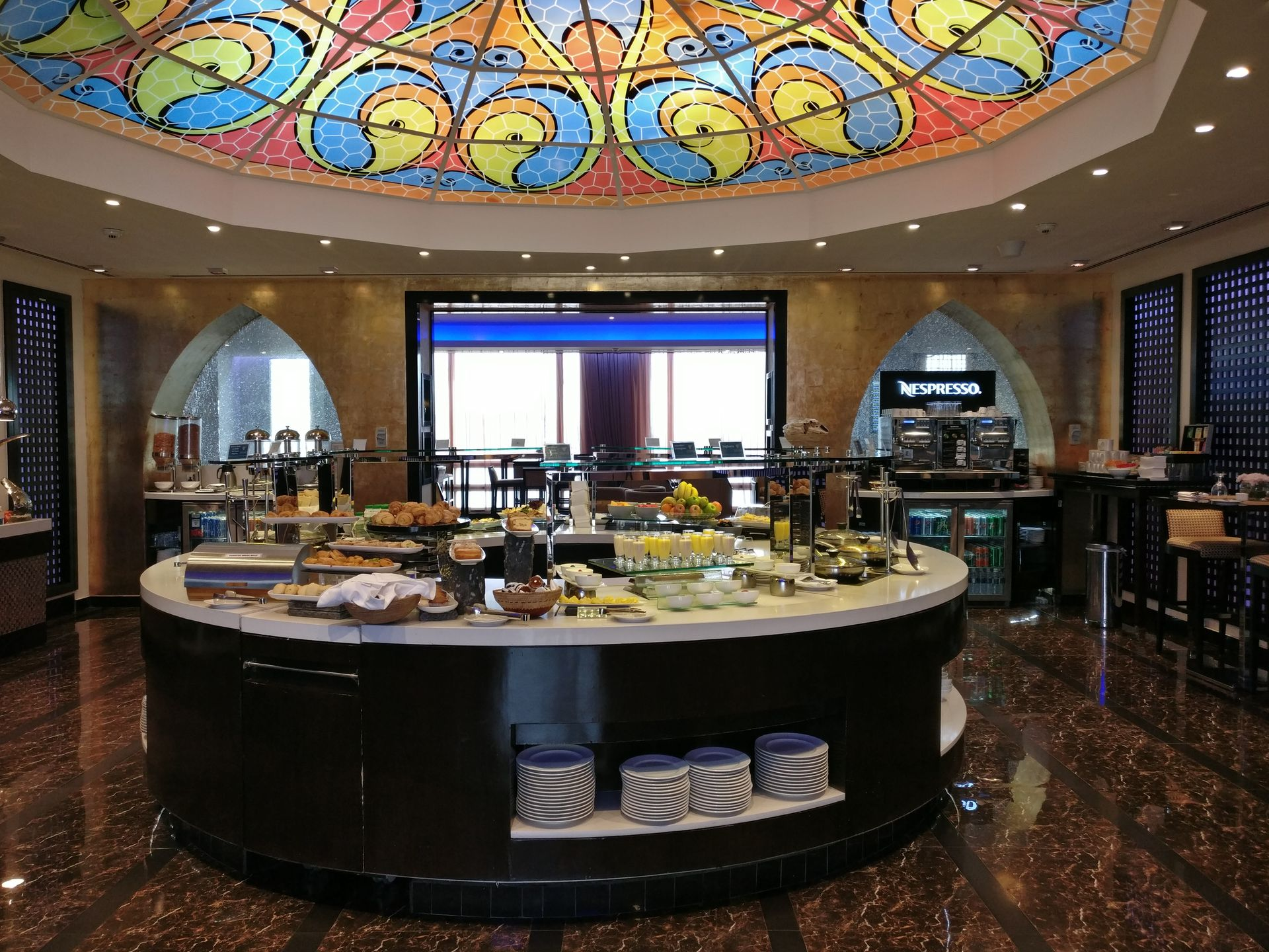 Oman Air Lounge Muscat Buffet
