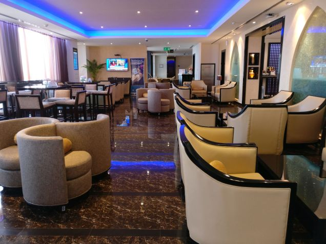 Oman Air Lounge Muscat Seating