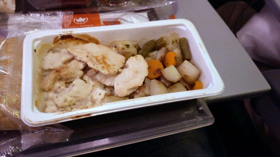 Air Canada Economy Class Boeing 777-300ER Dinner