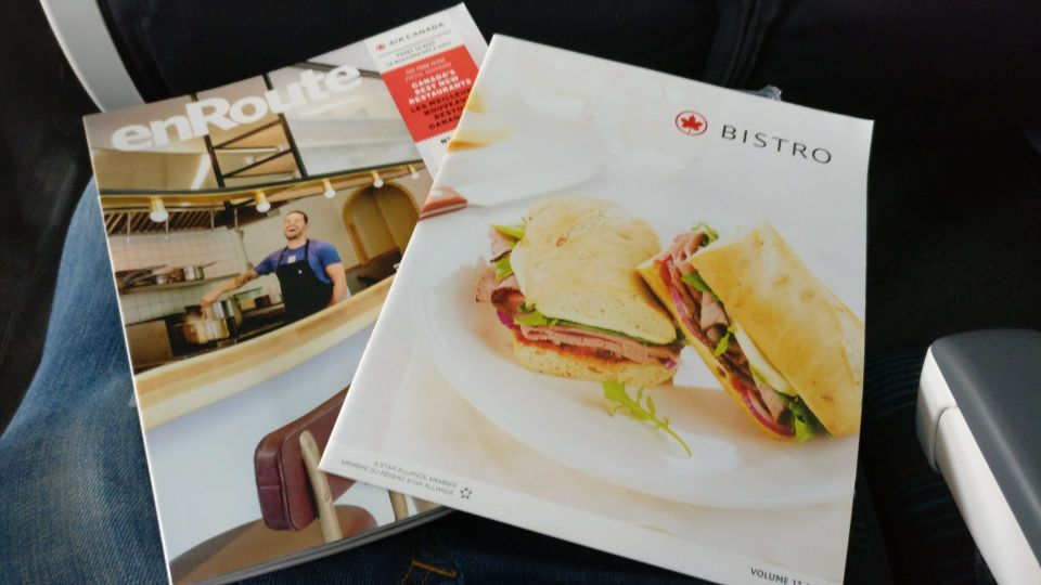 Air Canada Economy Class Boeing 777-300ER Menu