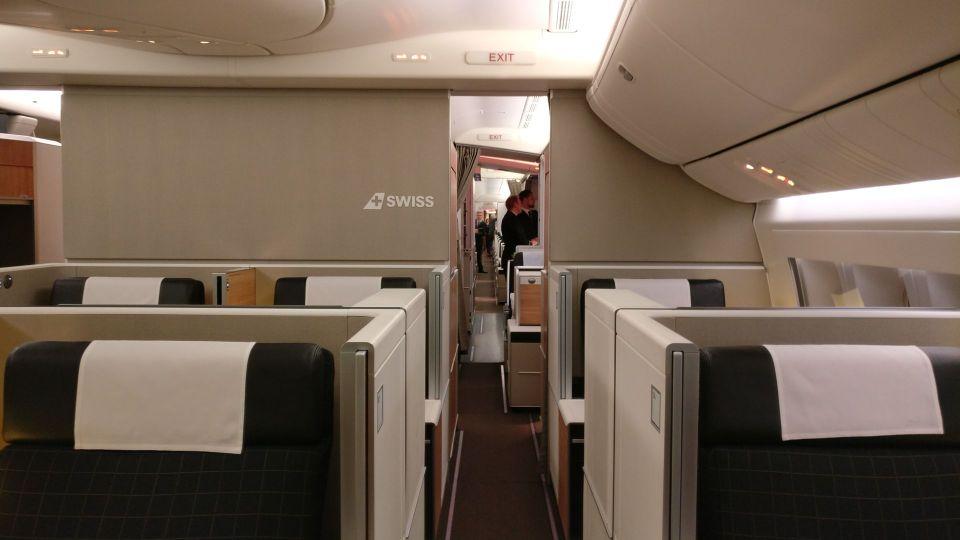 Swiss First Class Boeing 777 Cabin