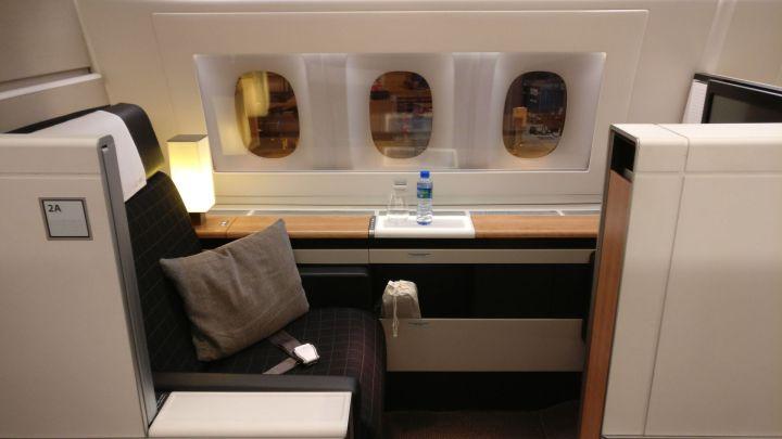 Swiss First Class Boeing 777 Seat