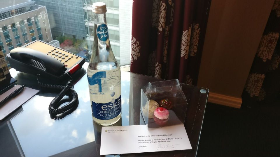 InterContinental Montreal Welcome Treatment