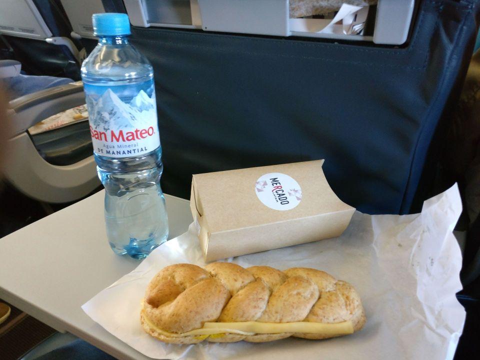 LATAM Economy Class Airbus A320 Food