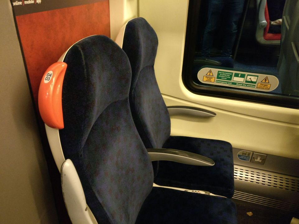 Cross Country Second Class Seat