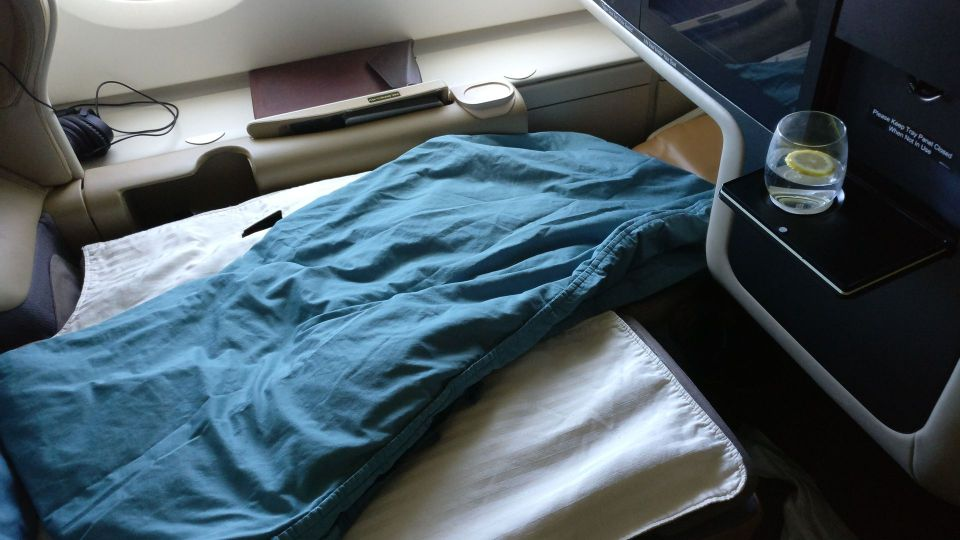 Singapore Airlines Business Class Airbus A380 Bed