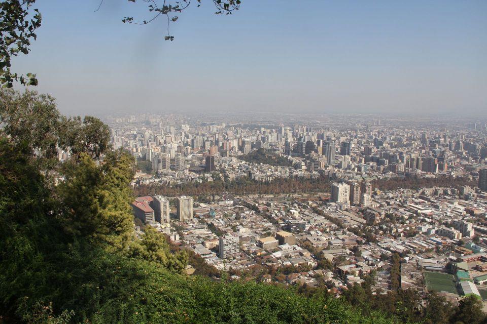 View from the Cerro San Cristobal Santiago de Chile