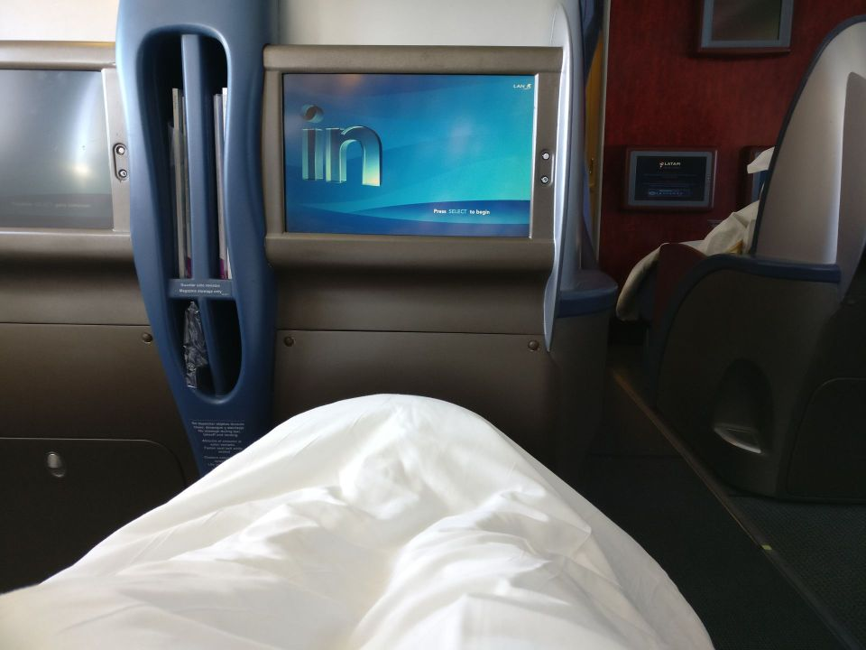 LATAM Business Class Boeing 767 Bed