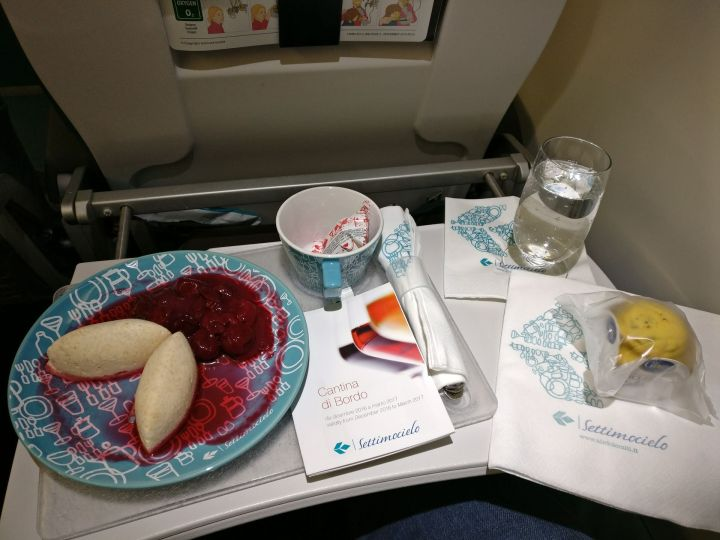 Air Dolomiti Business Class Dinner