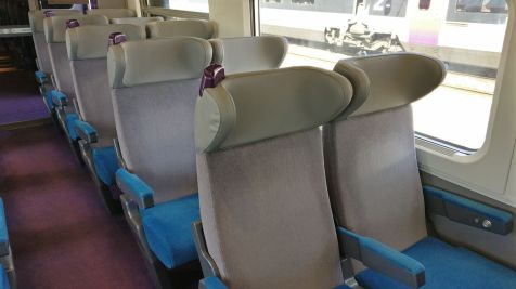 TGV Second Class Seating