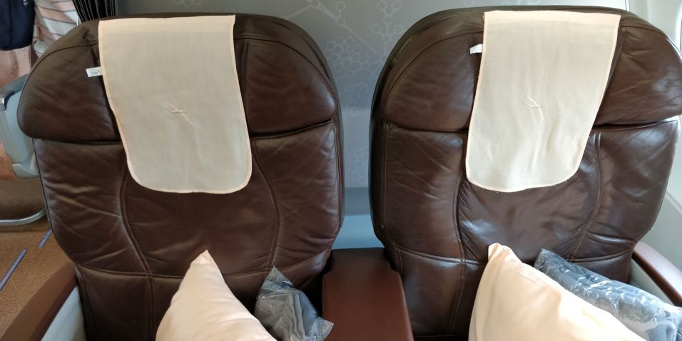 Silk Air Business Class Seat