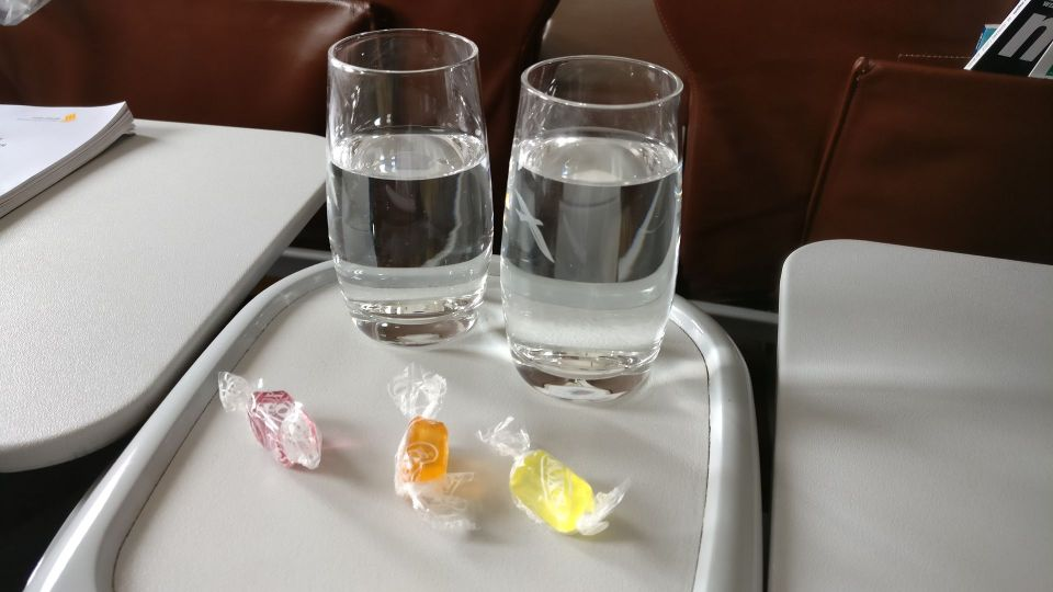 Silk Air Business Class Welcome Drink