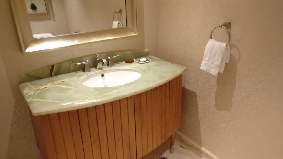 Conrad Macao Deluxe Suite Guest Bathroom
