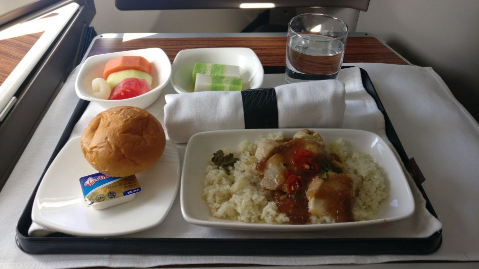 Garuda Indonesia Business Class Airbus A330 Lunch