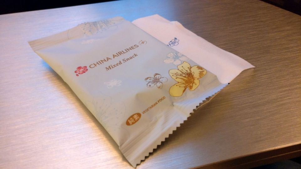 China Airlines Business Class Airbus A350 Snack