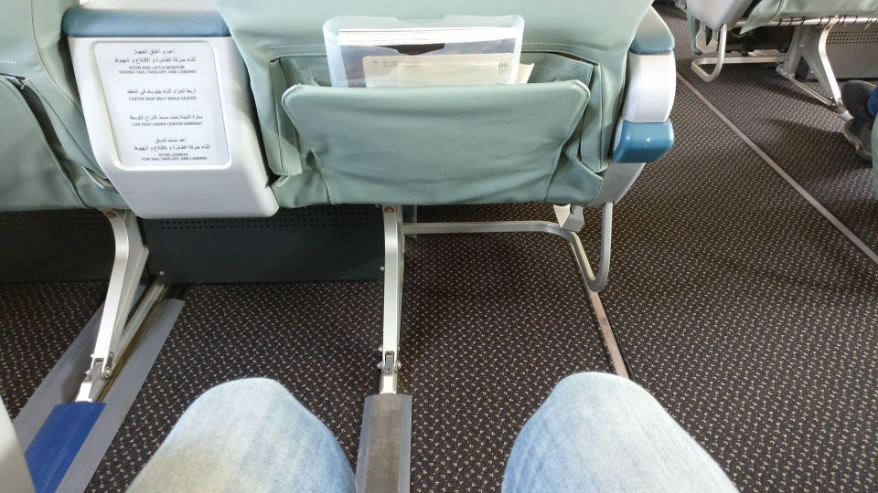 Saudia Business Class Airbus A320 Seat Pitch