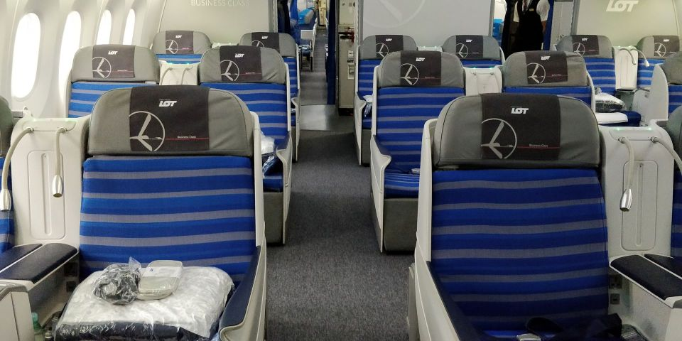 LOT long haul Business Class Cabin