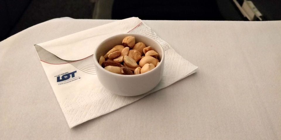 LOT long haul Business Class Nuts