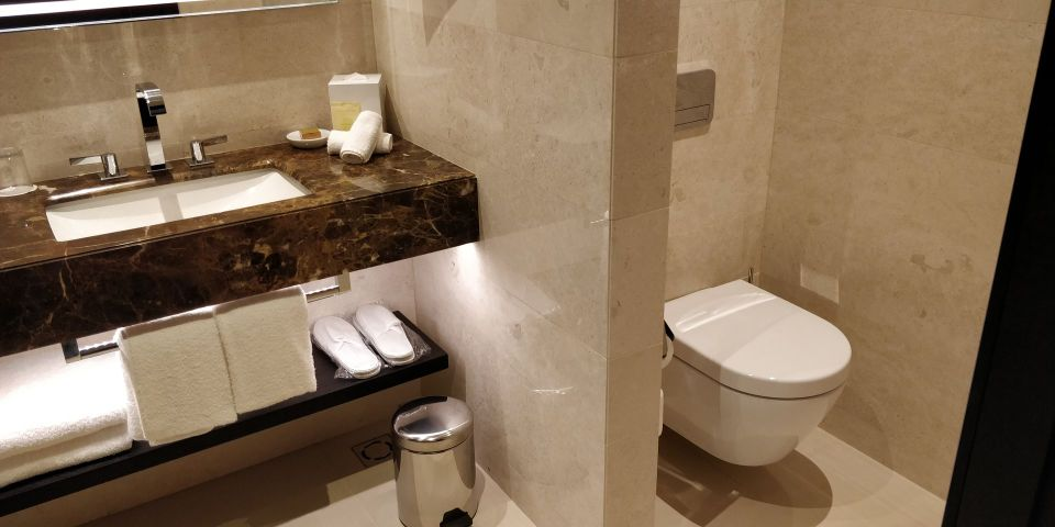 Hilton Belgrade Executive Room Bathroom