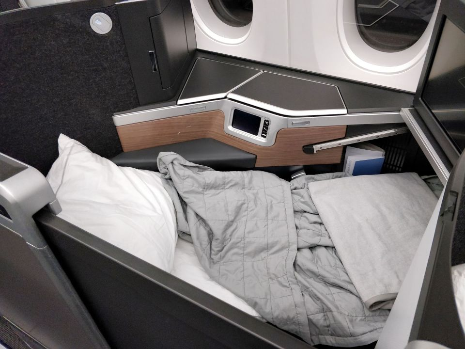 British Airways Business Class Airbus A350 Bed