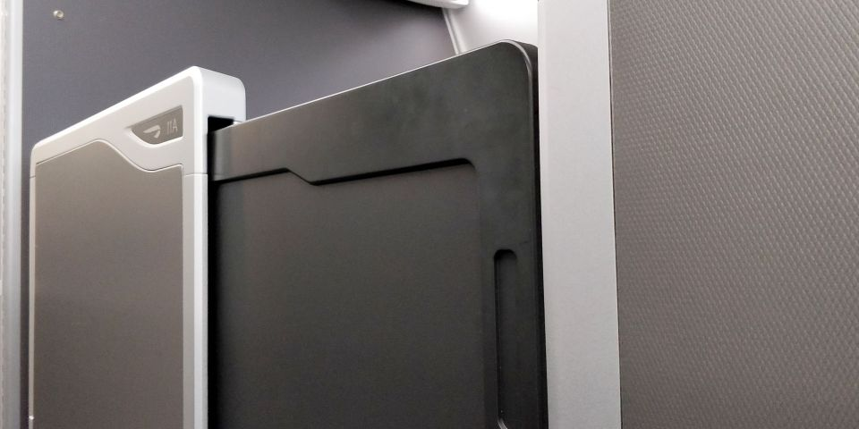 British Airways Business Class Airbus A350 Door