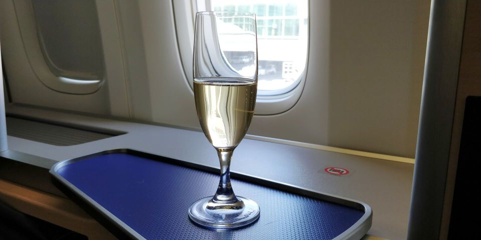 ANA First Class Welcome Drink