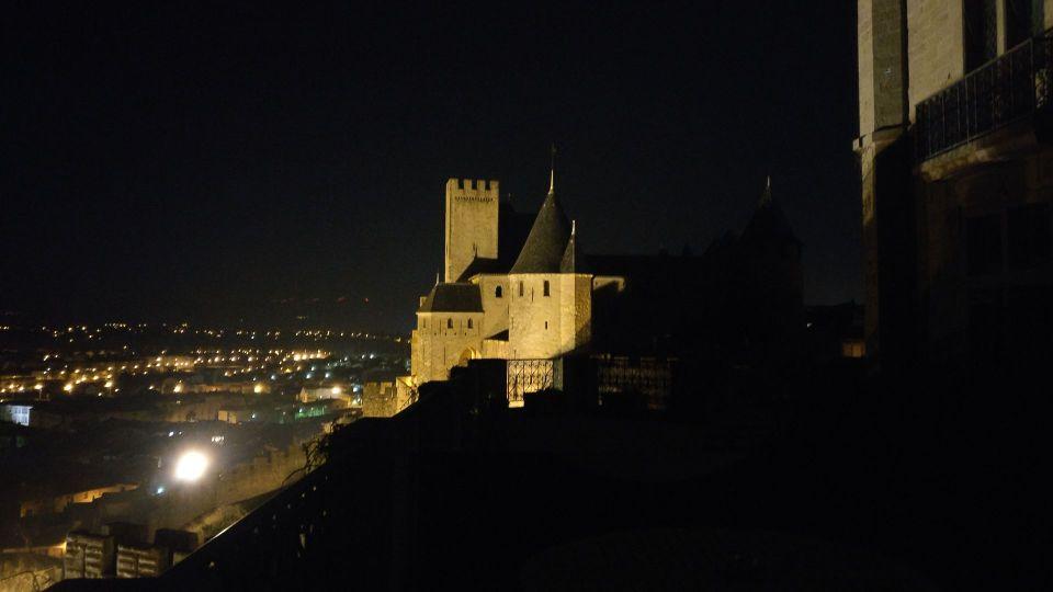 Hotel de la Cite Carcassonne View at Night