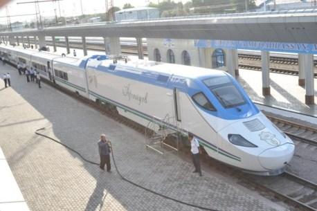 Высокоскоростной поезд «Afrosiyob»