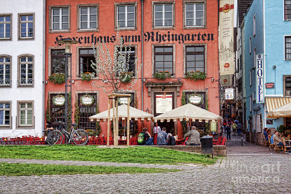 Sidewalk Cafes Cologne, Germany by Tatiana Travelways