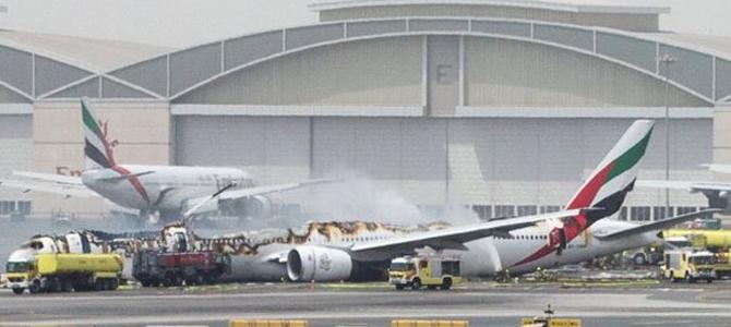Emirate Airline Plan Crash on Dubai Airport