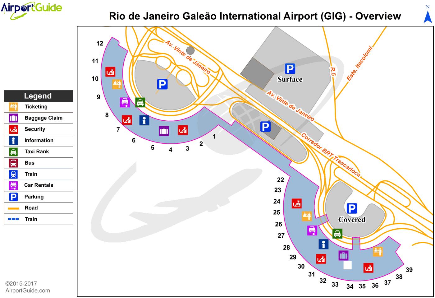 Rio de Janeiro  Galeo  Antnio Carlos Jobim International GIG Airport Terminal Maps