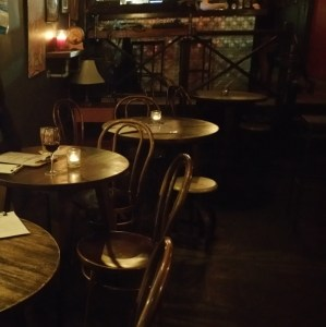 Tables at Black Penny Bar