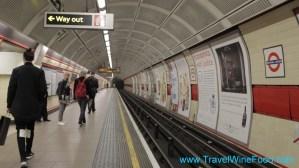 London Underground Bethnal Green Train Tunnel England United Kingdom {UK)