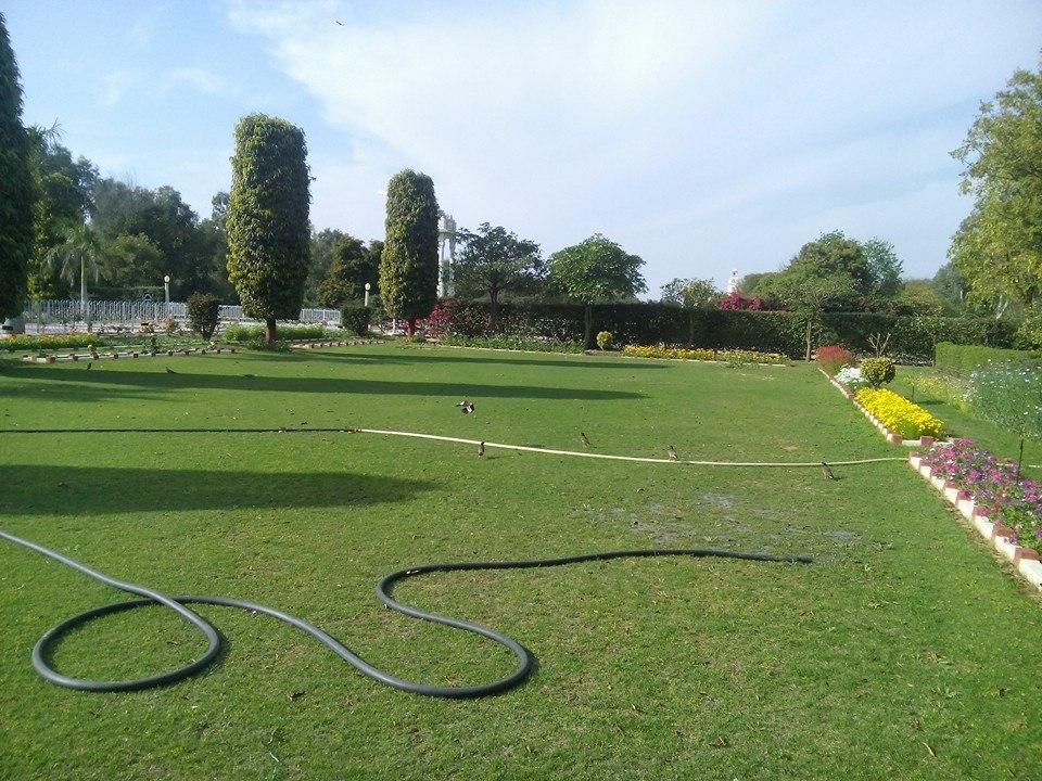 Saraswati Temple lawns, BITS, Pilani, India