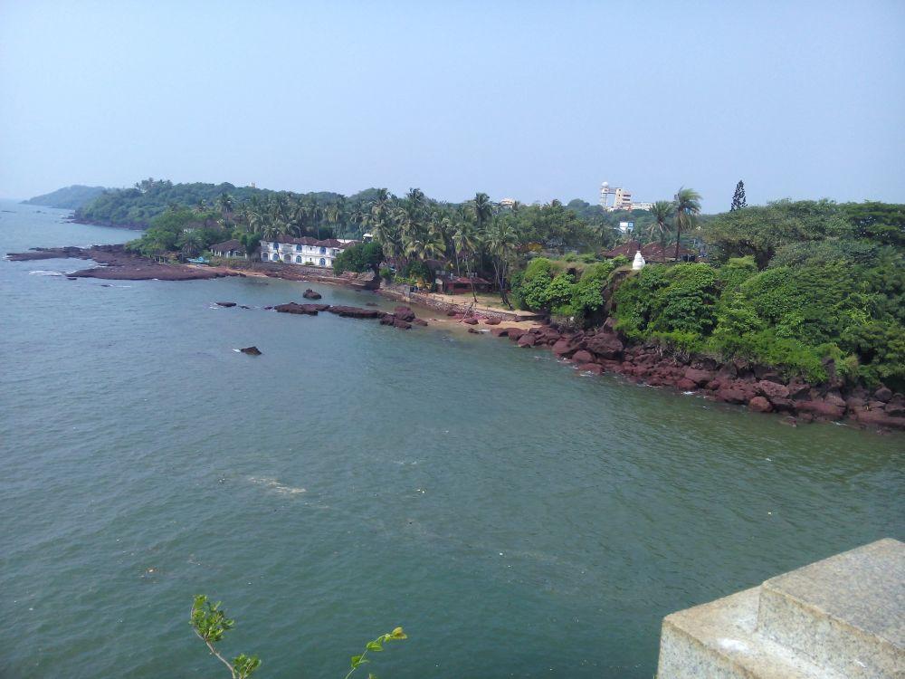 Dona Paula Statue, Goa, India. Views from top