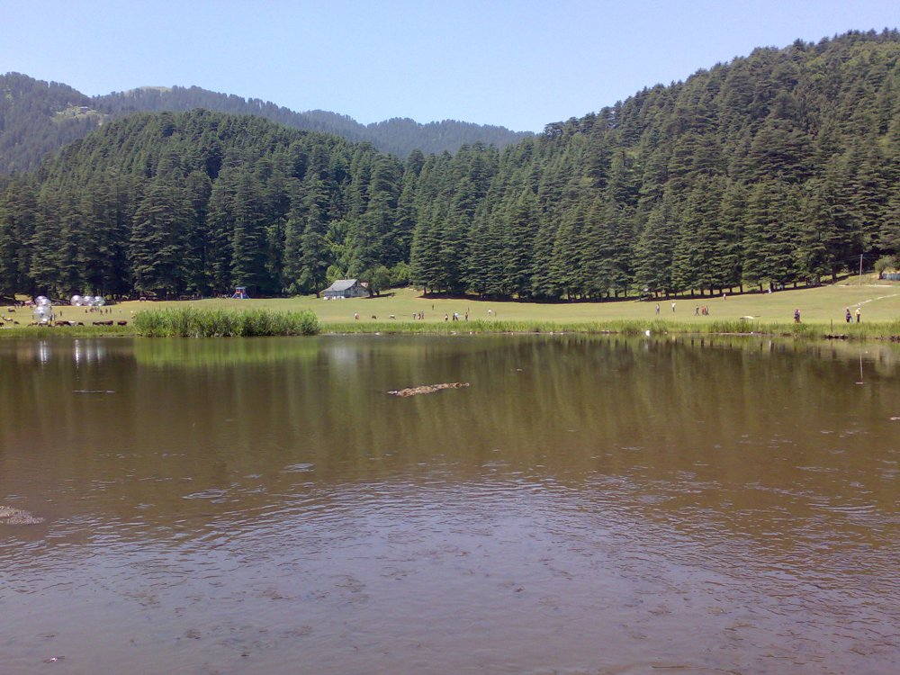 Khajjiar lake near Dalhousie, a hill station in Himachal Pradesh, India