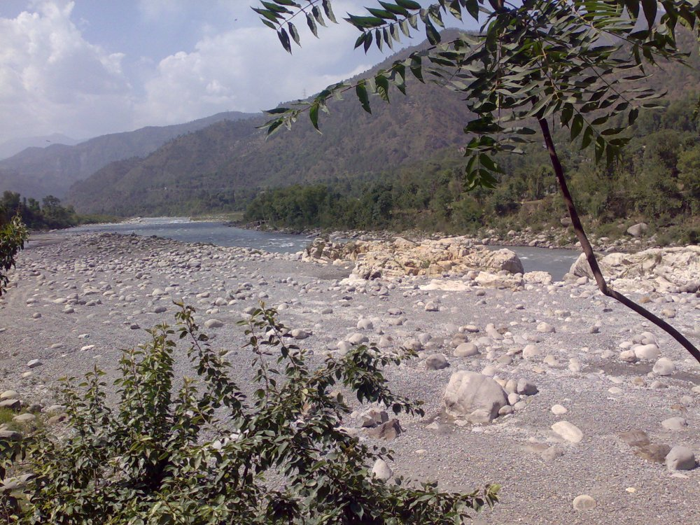 Ravi River in Chamba near Dalhousie, a hill station in Himachal Pradesh, India