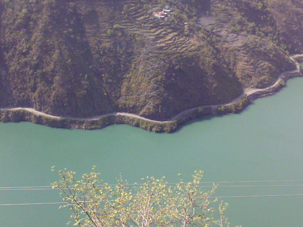 Chamera Lake near Dalhousie, a hill station in Himachal Pradesh, India
