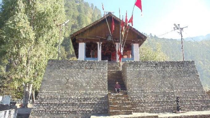 Chamunda Devi Temple in Chamba near Dalhousie, a hill station in Himachal Pradesh, India
