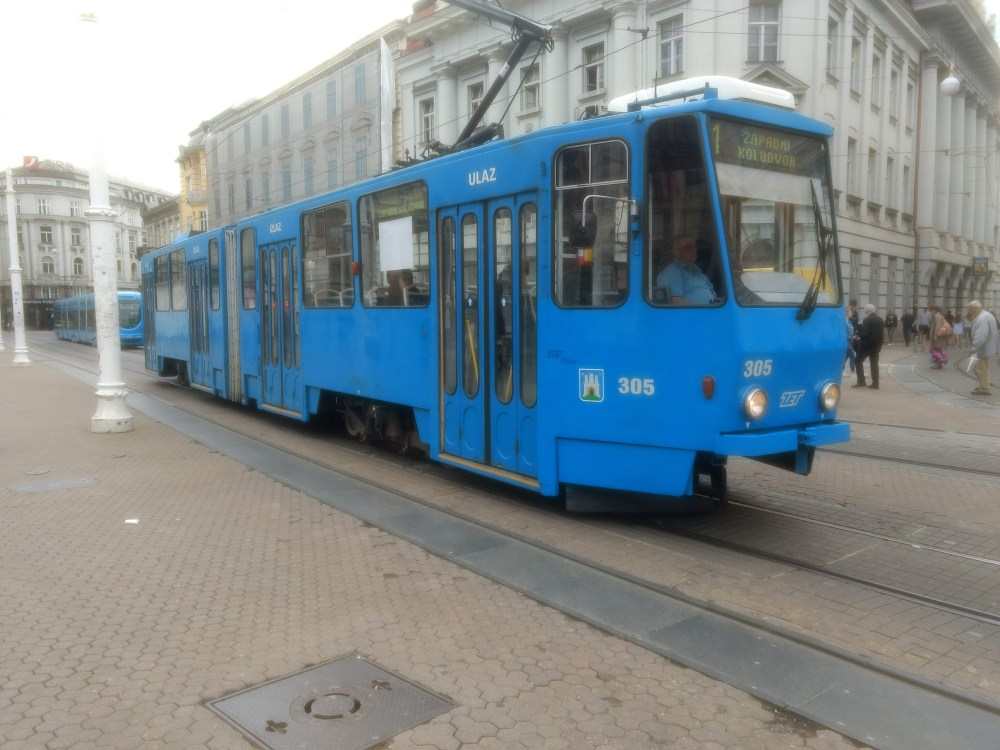Trams in Zagreb are most frequently used mode of transport in Zagreb
