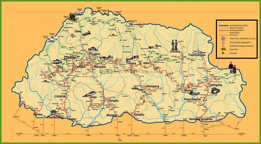 tourist-map-of-bhutan