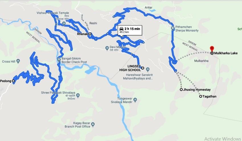 mulkharka trek map
