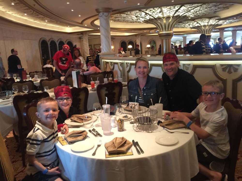 Disney Cruise-pirate dining