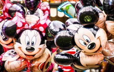Bouquet of Disney balloons at Magic Kingdom