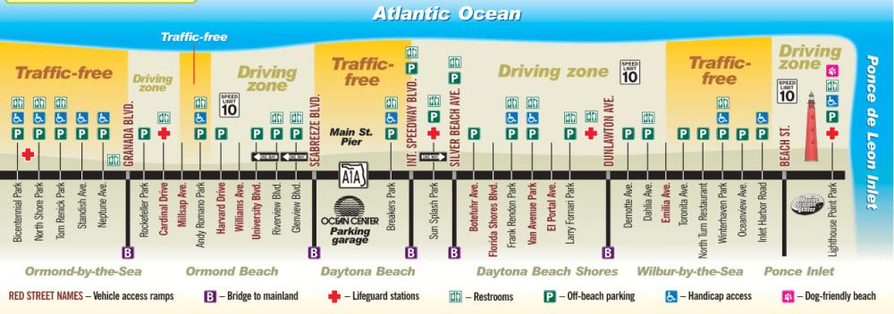 Daytona Beach parking map