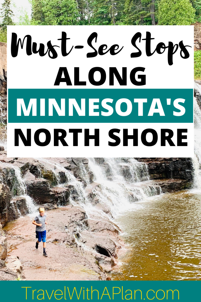 Discover the must-see stops on the Minnesota North Shore Scenic Drive!  From Duluth to Grand Marais, Minnesota these stops will complete your North Shore experience!  Minnesota | North Shore, MN | North Shore waterfalls | North Shore activities | Family travel | MN State Parks #midwesttravel #bestfamilyvacationspots #socialdistanttravel #NorthShoreMN #NorthShoreScenicDrive